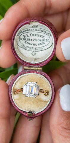 2 Carat Emerald Cut Diamond Engagement Ring 2.24ct D/VS2 GIA. Sku EJ60503. Emerald Cut Diamond Engagement Ring, Emerald Cut Diamonds, Vintage Engagement Rings, Diamond Cuts, Emerald Jewelry, 2 Carat, Rocks, Wedding Rings, Jewellery