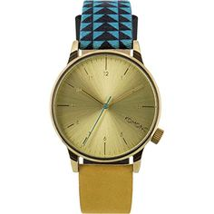 Komono KOM-W2205 Men, Women's Winston Galore Blue, Black, Orange Leather Band with Gold Dial Watch Komono http://www.amazon.com/dp/B00U05ADIY/ref=cm_sw_r_pi_dp_aCtswb1ECEQVE