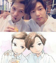 Lee Jong Hyun and Kang Min Hyuk (CNBLUE)