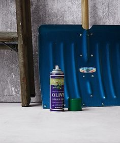 Before heading out to shovel snow and ice from the drive, spray both sides of your shovel with cooking spray so that the snow falls right of...