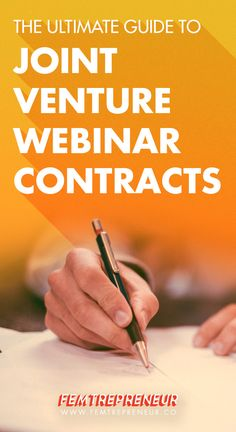The Ultimate Guide to Joint Venture Webinar Contracts | Femtrepreneur Co.