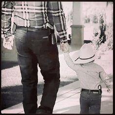 Vaquero Padre e hijo