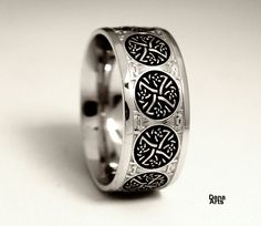 Celtic Iron Cross wedding band by DanaArts on Etsy (Made by a friend of mine)
