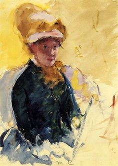 mary cassatt, 'self portrait'. Mary Stevenson Cassatt was an American painter and printmaker. She lived much of her adult life in France, where she first befriended Edgar Degas and later exhibited among the Impressionists.