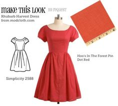 Make This Look - a bunch of dress patterns you can buy, and I must say, these are all really cute! I love this little red one!