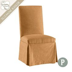 Parsons Chair Slipcover in Suzanne Kasler Signature 13oz Linen