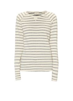 Maison Scotch Sweater met inside-out streepdessin