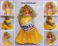 Ana Belli: Vestido de Crochê para Barbie!!!!