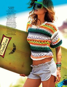 sweater-->les hits de lete: marlijn hoek by lise-anne marsal for madame figaro 26th april 2013 | visual optimism; fashion editorials, shows, campaigns & more!