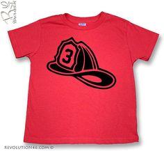 3rd Birthday Shirt  Fireman Birthday Shirt for by REVOLUTION46R46, $16.00