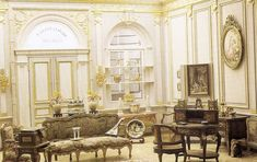 French antique shop (Ruth McChesney's miniature rooms.This Collection of images comes from the no longer published book by Anne Day Smith, and files of Tom McChesney, her son, and her collaborator, Dick Smith)