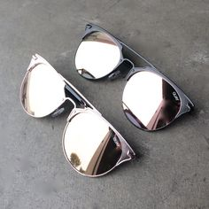 quay x chrisspy - gemini sunglasses with pink/rosegold mirror lens - more colors - shophearts - 1