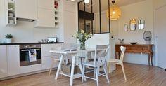 AdC l'Atelier d'à Côté : aménagement intérieur, design d'espace et décoration: -- Projet -- Un espace de vie chic et chaleureux : cuisine ouverte et verrière