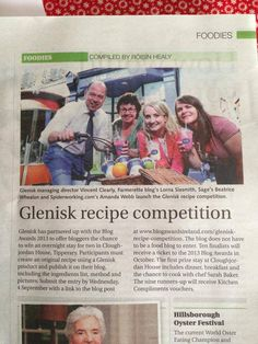 Lorna Sixsmith, Blog Awards Glenisk Competition, Irish Country Living July 2013  Lorna Sixsmith - one of the organisers of the Blog Awards, hosts a Glenisk competition via the awards.