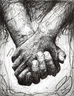 Art Sketches, Art Drawings, Fine Art Drawing, Holding Hands Drawing, Arte Van Gogh, Gcse Art Sketchbook, Scribble Art, A Level Art, Wow Art