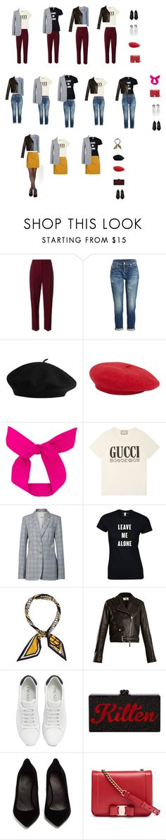 """Parisian chic"" by alena-egorova on Polyvore featuring мода, Play Comme des Garçons, Situationist, 7 For All Mankind, Gucci, TIBI, Henri Bendel, The Row, Prada и Maison Margiela"