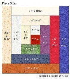 Traditional Log Cabin Bock Measurements