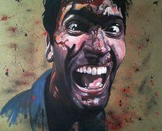 Bruce Campbell Evil Dead artwork
