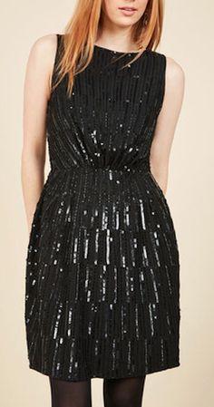 pretty black sequin dress