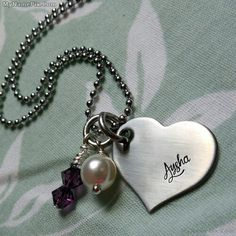 Write name on Small Heart Necklace picture in beautiful style. Best app to write names on beautiful collection of Jewelry pix. Personalize your name in a simple fast way. You will really enjoy it. Small Heart Necklace, Heart Locket Necklace, Name Necklace, Pendant Necklace, Heart Bracelet, Bracelets, Name Jewelry, Silver Jewelry, Monogram Jewelry