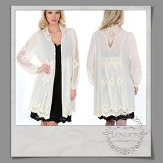 #Embroidered #High #Neck #Cotton #Cardigan