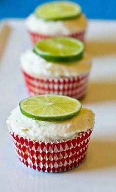 Lima Colada Cupcakes