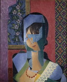 1916 WOMAN IN LACE, Jean Dominique Antony Metzinger (1883~1956) | Theorist Of Cubism