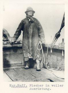 Kurisches Haff, Fischer in voller Ausrüstung