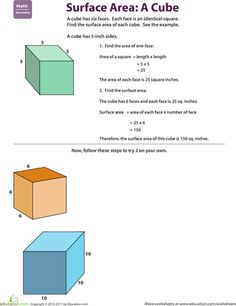 Printables Surface Area Of A Cube Worksheet surface area cube worksheet davezan