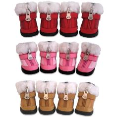 I think Tugg needs the pink ones....   Dog Accessories | ... Dog Boots! Especially made for any dog that needs style and toughness
