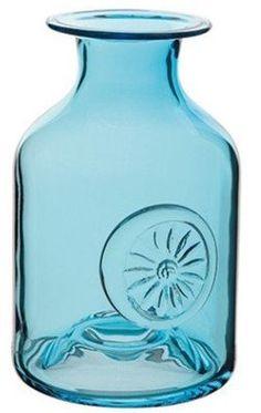 Dartington Crystal Glass Flower Bottle Mini Daisy Turquoise Vase H 13 Cms On Ebay Flower Bottle Dartington Turquoise Vase