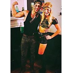 Sexy Army duo for Halloween night