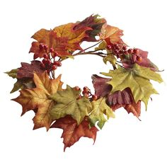 Faux Fall Leaves Mini Wreath - Pier1 US
