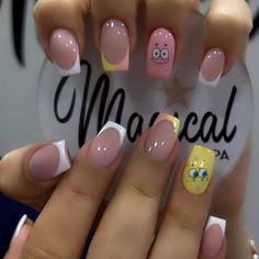 Acrylic Nail Shapes, Cute Acrylic Nail Designs, Best Acrylic Nails, Stylish Nails, Trendy Nails, Fancy Nails, Cute Nails, Glow Nails, Minimalist Nails