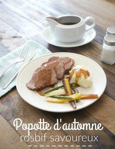 Popotte d'automne: rosbif savoureux Menu, Food, Roast Beef, Suppers, Mom, Bon Appetit, Menu Board Design, Essen, Eten