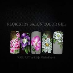 Gel Nail Art, Gel Nails, Nailart, Salons, Roses, Painting, Color, Instagram, Gel Nail