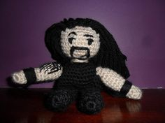 Roman Reigns Crochet Doll - WWE - Wrestling I know you don't like wrestling but he's my favorite.
