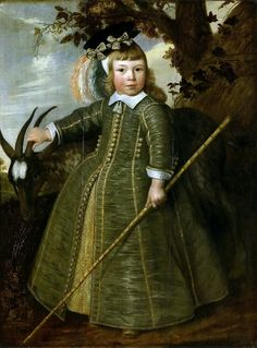 Portrait of a young boy with a goat by Jan Albertsz Rotius, 1652