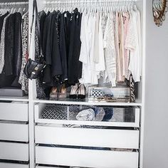 Ikea Closet System with See Through Drawers