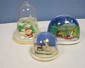 70s snow globes, someone would always get me one for Christmas and they'd always leak everywhere...LOL