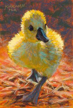 """Duckling Walking"" - Original Fine Art for Sale - © Rita Kirkman"