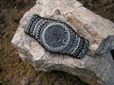 Bead embroidery barette