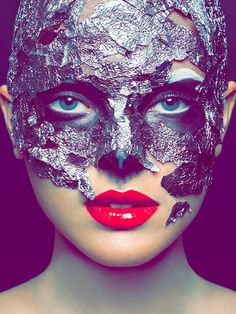 Cool makeup I did..... using tin foil and facial/theatric glue! Go to www.makeupbykiley to see more fun stuff! :)