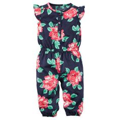 so cute once it warms up-Floral Jumpsuit