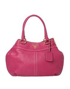 Prada Pink Leather Double Handle Hobo...