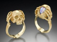 Skull and opal ring.