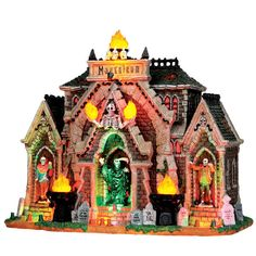 Lemax Spooky Town Collection All Hallows Mausoleum