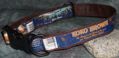 Adjustable Dog Collar from Recycled Kona Brewing Koko Brown beer labels by squigglechick, $18.00