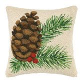 Found it at Wayfair - Pine Cone Hook Wool Throw Pillow