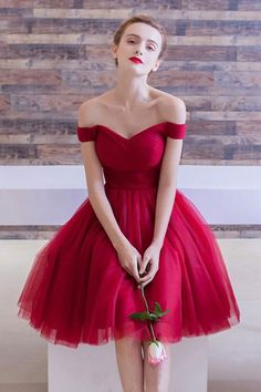 Red Prom Dresses #RedPromDresses, Prom Dresses Simple #PromDressesSimple, Short Prom Dresses #ShortPromDresses